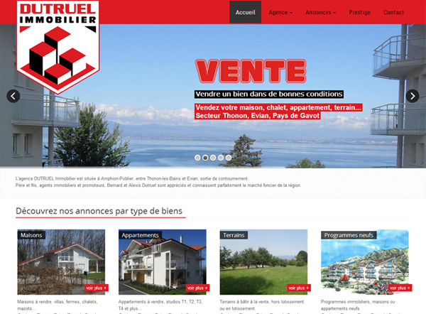 page Dutruel immobilier